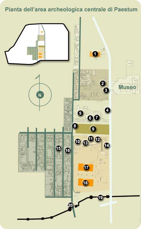 Planimetria e mappe paestum pestum for Google planimetria